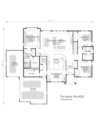 the clemont plan 2220 ranch 2 220 sq ft 3 bedroom 2 5
