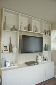 Tv Wall Furniture Best 25 Shelves Around Tv Ideas On Pinterest Media Wall Unit