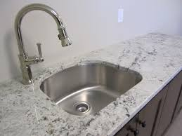camelot white granite laundry room with d shaped stainless steel under mount s contemporary
