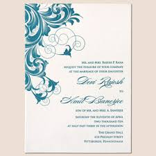 wedding designs wedding invitation designs rectangle beige blue floral pattern