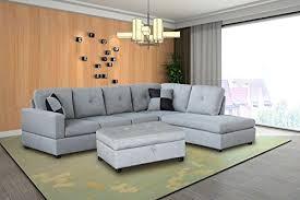 legend 3 piece microfiber left facing sectional sofa set with free