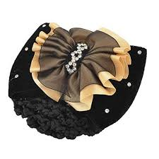 forever yung hairdressing black beige bowtie ornament