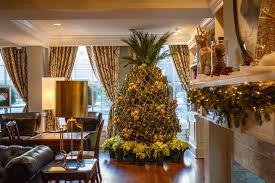 christmas tree house diy marshall house pineapple christmas tree historic inns