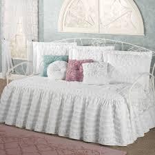 Antique Rose Comforter Set Vintage Rose Floral Ruffled Daybed Bedding Set With Daybed