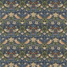 strawberry thief fabric indigo mineral 220313 william morris