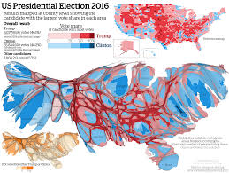 Map Distortion Us Map Population Distortion Us Map Distorted By Population