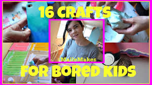 16 crafts for bored kids mailemakes mamakattv youtube
