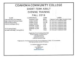 ccc offering wide range of short term evening trainings