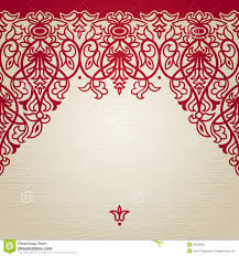 vector seamless border in victorian style royalty free stock