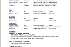 Sample Acting Resume by Singer Resume Sample Resume Cv Cover Letter Link To Sample Acting