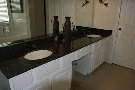 white cabinets with black impala granite bathrooms black granite