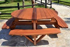 round wood patio table best round wood patio table