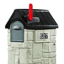 Wall Mount Locking Mailbox Home Depot Step2 53 3 8 In Mailmaster Storemore Plastic Mailbox 531700 The
