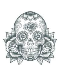 tattooed now sugar skull with roses the makeup armoury
