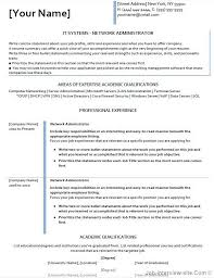 Best Network Administrator Resume by Free 40 Top Professional Resume Templates