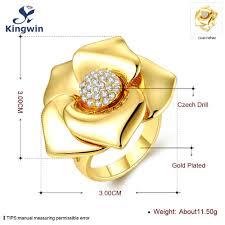 designer modeschmuck große dame ringe gold farbe italienischen designer