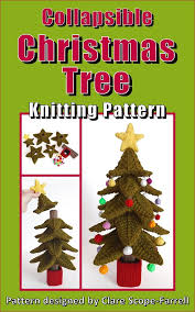 collapsible christmas tree clare scope farrell novelty knitting patterns collapsible