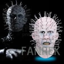 horror film hellraiser mask cosplay pinhead mask thriller full