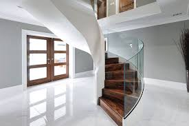 Helical Staircase Design Curved Glass Staircase Case Studies Elite Metalcraft