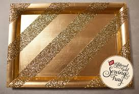 wedding serving trays diy glittered gold serving tray