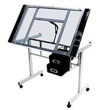 Adjustable Drafting Table Plans Amazon Com Angle Adjustable Drawing Desk Drafting Table W Storage