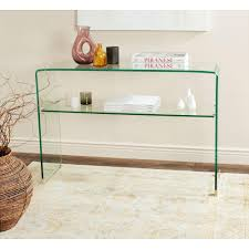 Turquoise Entry Table by Clear Console U0026 Entry Tables Entryway Furniture The Home Depot