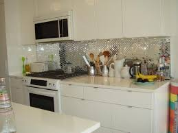 white cabinet with sparkling silver backsplash ideas for modern