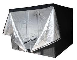 new indoor grow tent box silver mylar lined bud dark green room