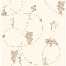 decorline carousel bear u0026 boo childrens wallpaper natural cream