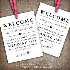 welcome bags for wedding guests instant printable wedding welcome bag tags labels hotel