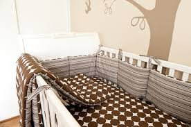Brown Baby Crib Bedding Baby Boy Bird Theme Nursery Design Decorating Ideas