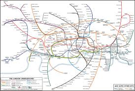 map of the underground in map distorting scale without becoming diagrammatic ldn