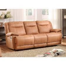 homelegance wasola triple reclining sofa 3 recline in brown