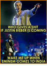 Who Gives A Shit Meme - who gives a shit if justin bieber is coming wake me up when eminem