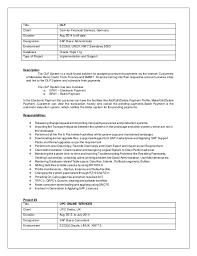 Sap Basis Resume 2 Years Experience Basis Resume