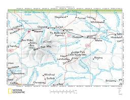 Montana County Map by Peoples Creek Missouri River Drainage Divide Area Landform Origins