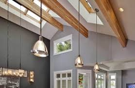 Lighting For Sloped Ceilings Electrician Lighting Vaulted Ceilings Residential Cook