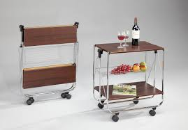 origami folding kitchen island cart dining room attractive natural white butcher block top of nice