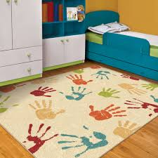 Area Rugs For Boys Room Orian Handprints Area Rug Walmart