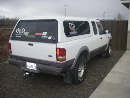Ford Ranger Truck Canopy - 1996 ford ranger xlt extra cab 4x4 new tires canopy tow package