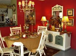 classy decor with red walls for elegant dining room idea red