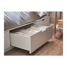 Bed Frame Drawers Nordli Bed Frame With Storage Ikea
