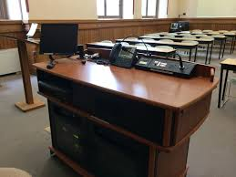 Lecture Hall Desk Powers Electric Company Inc Audio Visual