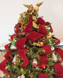 red christmas tree ribbon balsam hill