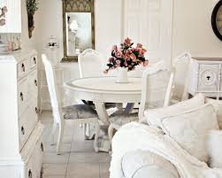 chic dining room sets dining room a pretty white shabby chic dining room chairs with