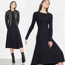 dress midi zara navy dress sweater dress knitwear knitted