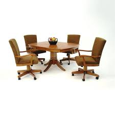 dining room chairs casters dining chair rolling dining chairs with