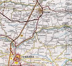Ferrara Italy Map by Quartesana Ferrara Italy Map Finland