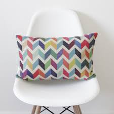Bolster Cushion Pad Geometric Chevron Bolster Cushion Cover U2013 Quirky Bee
