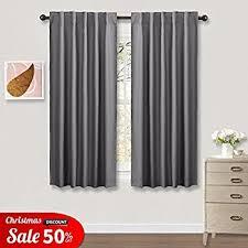 Blackout Curtains Gray Gray Blackout Curtains For Kitchen Ryb Home 42 W